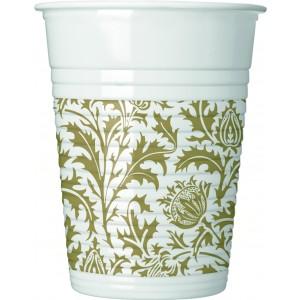 ROYAL FLOWER PLASTIC CUPS 200 ML 8CT