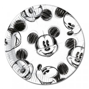MICKEY FACES-PAPER PLATES LARGE 23CM 25CT