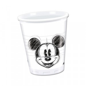 MICKEY FACES-PLASTIC CUPS 200ML 25CT