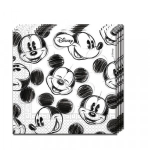 MICKEY FACES-TWO-PLY NAPKINS 33X33CM 25CT