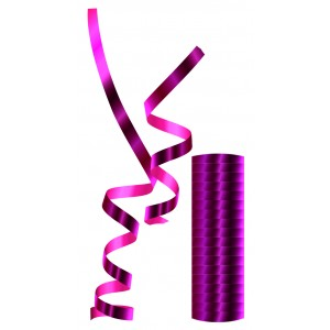 STREAMERS METALLIC FUCHSIA 1CTP