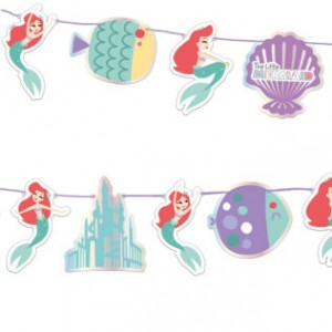 ARIEL MERMAID DIE CUT BANNER 1CT