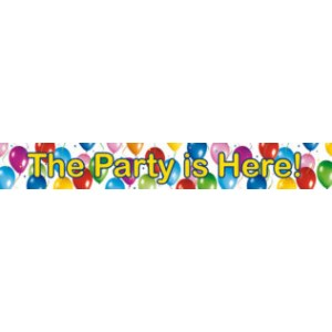 BALLOONS FIESTA THE PARTY IS HERE BANNER 3CT