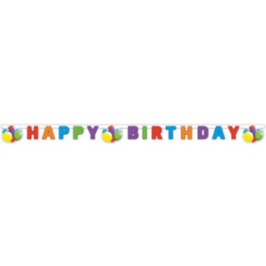 BALLOONS CELEBRATION HAPPY BDAY DIECUT BANNER 1CT