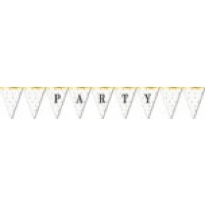 MILESTONE STARS  TRIANGLE FLAG BANNER 1CT
