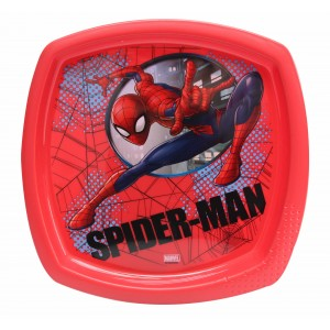 SPIDER-MAN SECRET ID SQUARE SHAPED PLATE(RED)
