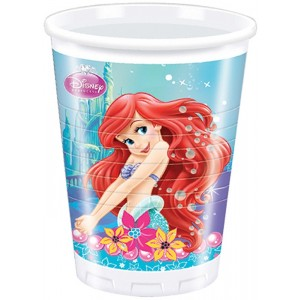 ARIEL MERMAID PLASTIC CUPS 200ML 8CT