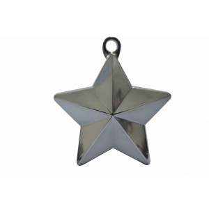 BALLOON WEIGHTS STAR 28 GRAMS SILVER 1CTP