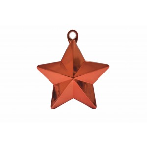 BALLOON WEIGHTS STAR 28 GRAMS RED 1CTP