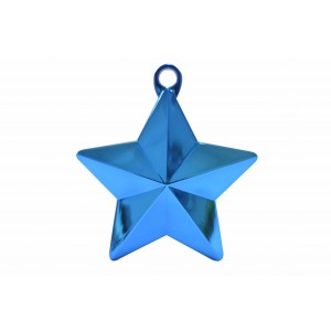 BALLOON WEIGHTS STAR 28 GRAMS BLUE 1CTP