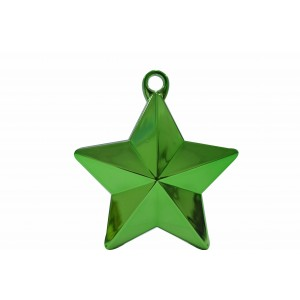 BALLOON WEIGHTS STAR 28 GRAMS GREEN 1CTP