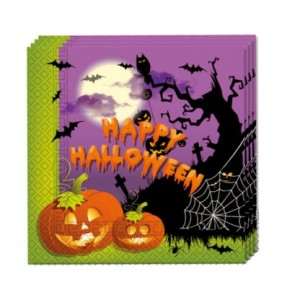 HAPPY SPOOKY HALLOWEEN TWO PLY PAPER NAPKINS 20CT