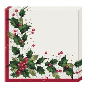 CHRISTMAS COMFORT THREE PLY PPR NPKNS 33X33CM 20CT