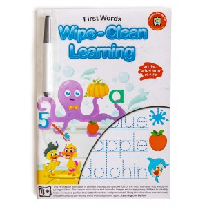 WIPE-CLEAN LEARNING FIRST WORDS