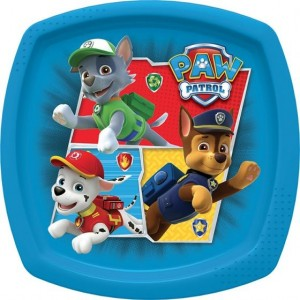 PAW PATROL CANINE RESCUE SHAPED PLATE