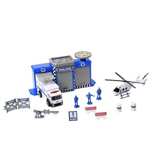 TEAMSTERZ 4 INCH POLICE STATION PLAYSET
