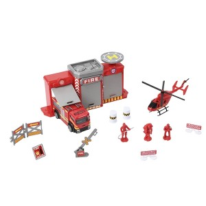TEAMSTERZ 4 INCH FIRE STATION PLAYSET
