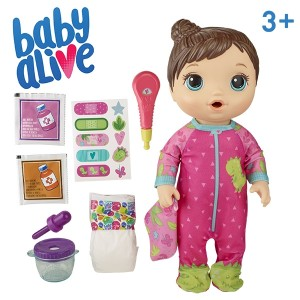 BABY ALIVE-MIX MY MEDICINE BABY BRN HAIR