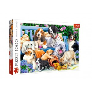 TREFL-1000 PC PUZZLE DOGS IN THE GARDEN