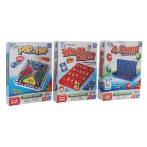 GAMES HUB TRAVEL POP&DROP,4 TO SCORE,WHATSNAME
