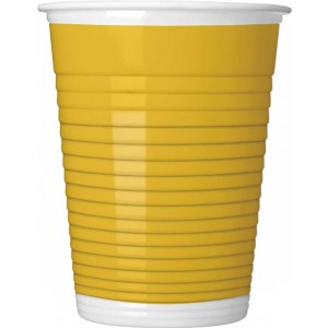 YELLOW PAPER CUPS 200ML 8CT