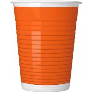 ORANGE PAPER CUPS 200ML 8CT