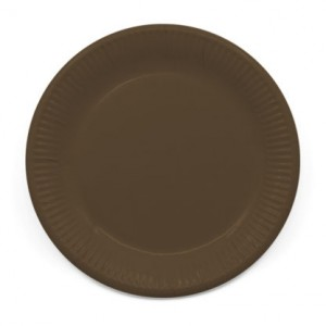 ECO COMP IND BROWN PAPER PLATES LARGE 23CM 8CT