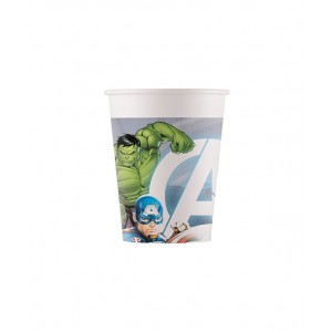 ECO AVENGERS FIGHT COMPOSTABLE PAPER CUPS  8CT