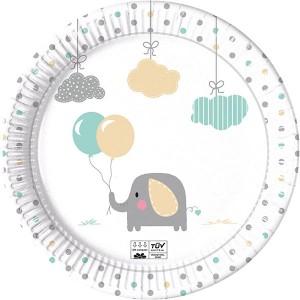 ECO COMP ELEPHANT BABY PPR PLTS LRGE 23CM 8CT