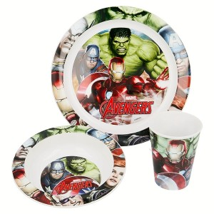 AVENGERS 3 PCS KIDS MICROWAVABLE SET