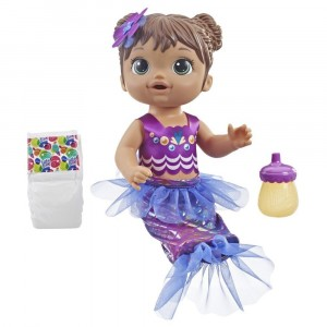 BABY ALIVE-SHIMMER N SPLASH MERMAID BRN HAIR