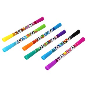 SCENTIMALS 6 SCENTED DOUBL END STIP MARKERS ASST