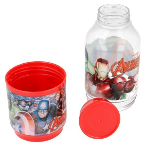 AVENGERS SNACK TRITAN BOTTLE 300ML AND CON 175ML