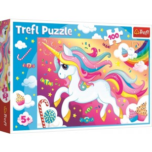 TREFL-100 PC PUZZLE BEAUTIFUL UNICORN