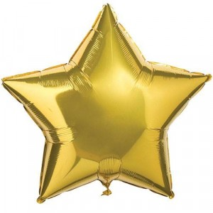 18 INCH AIR-HELIUM FOIL GOLD STAR 1CTP