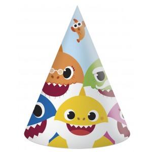 BABY SHARK 6 HATS 6CT