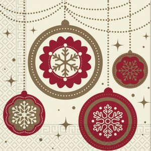 THREE PLY NAPKIN 33X33  CHRISTMAS DREAMS 20CT