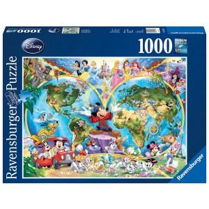 1000PC PUZZLES-DISNEYS WORLD MAP