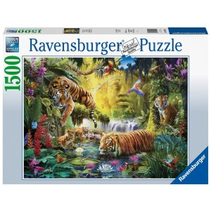1500PC PUZZLES-TRANQUIL TIGERS