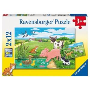 2X12PC PUZZLES-BABY FARM ANIMALS