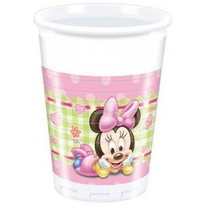 BABY MINNIE PLASTIC CUPS 200ML 8CT