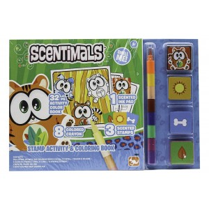 SCENTIMALS SCENTED STAMP ACTIVITY N COLORING BOOK