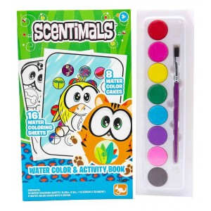 SCENTIMALS WATER COLORING N ACTIVITY BOOK