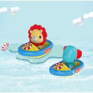 FISHER PRICE BATH TIME BOAT REMOVABLE FIGURE SET