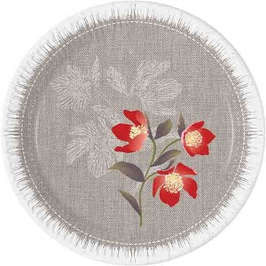 BLOOMING POPPIES PAPER PLATES 20CM 8CT