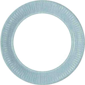 TURQUOISE FABRIC FLOWERS PAPER PLATES 23CM 8CT