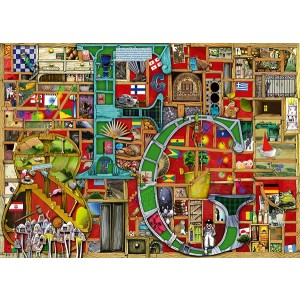 1000PC PUZZLES-AWESOME ALPHABET F AND G