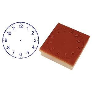 TFC-STAMP CLOCK 12 HOURS (75MM) 1P