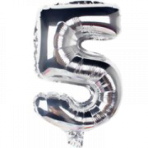 AIR FILLED 31 CM SILVER FOIL BALLOON 5 1CT