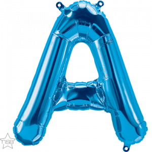 16 IN FOIL BLUE LETTER A AIR FILLED 1CTP